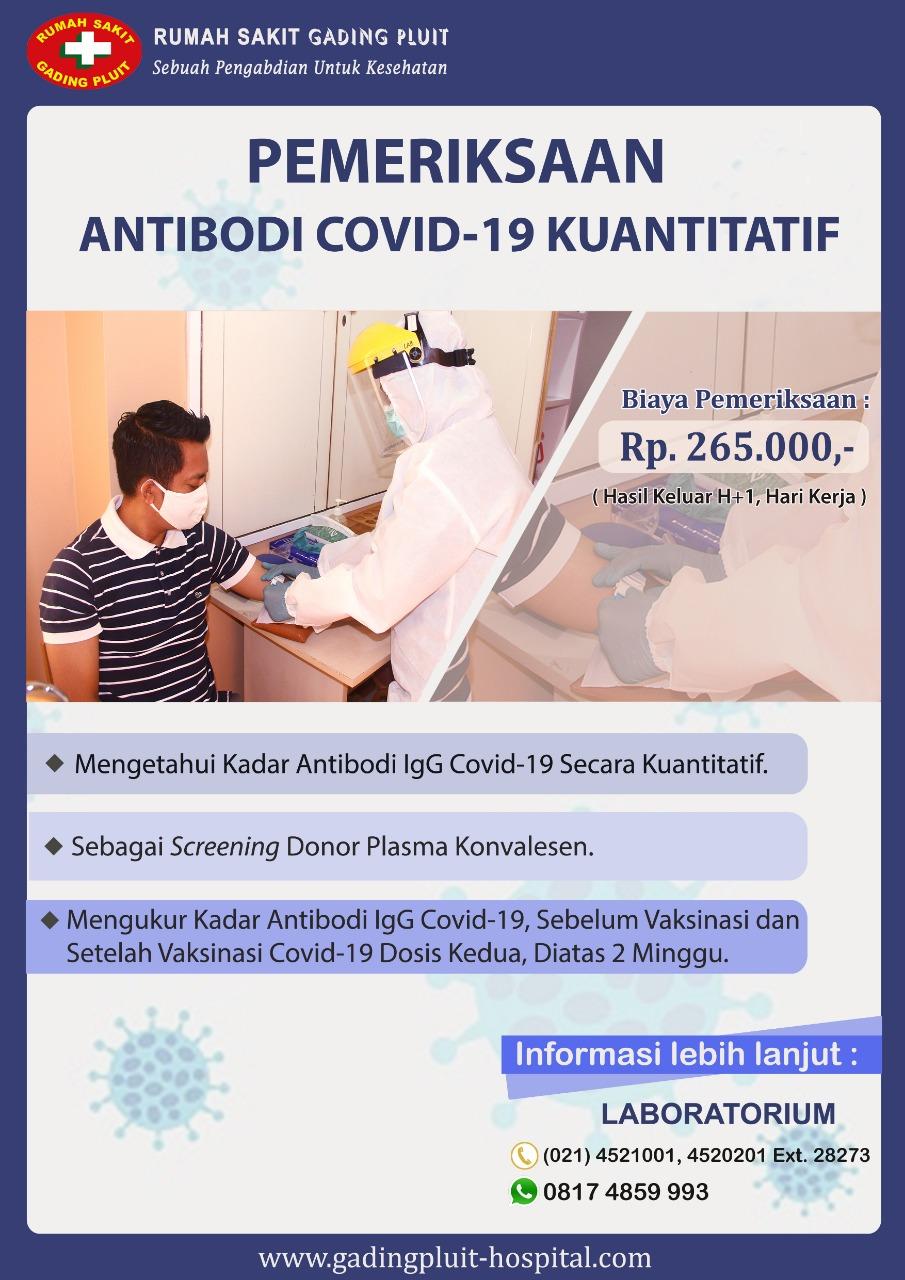 PEMERIKSAAN ANTIBODI COVID-19 KUANTITATIF